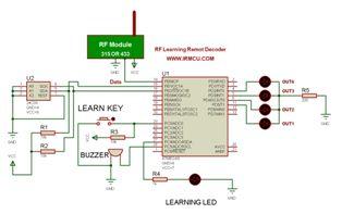 نقشه-مدار و سورس برنامه دیکدر ریموت های لرنینگ با میکروکنترلر AVR به زبان بیسیک