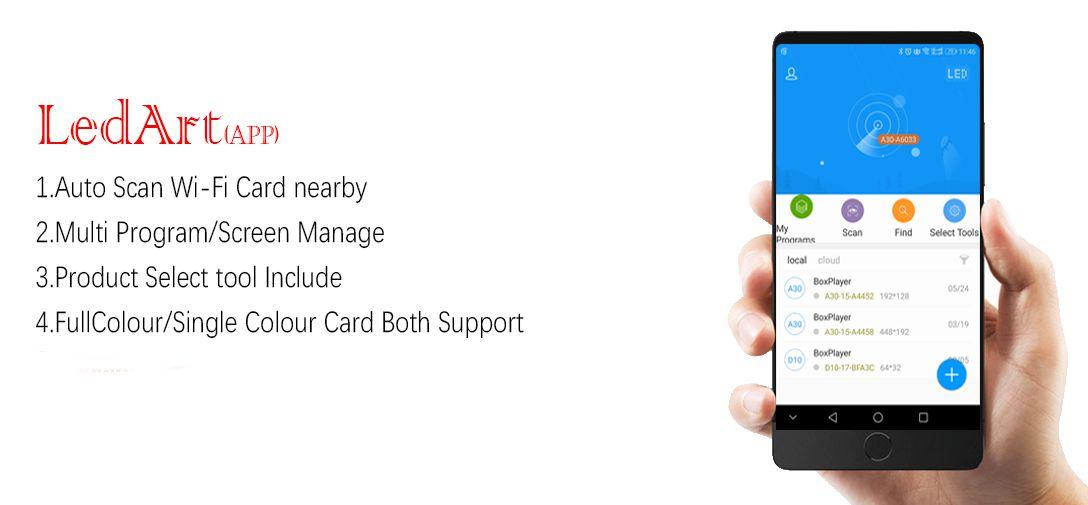 اپلیکیشن موبایل تابلو ال ای دی