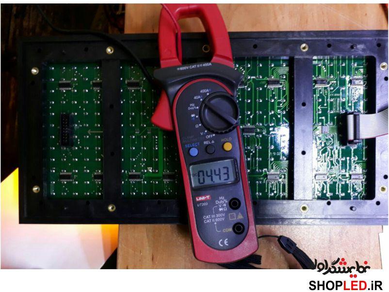 جریان مصرفی ماژول تک رنگ زرد پی 10 با ولتاژ 5 ولت